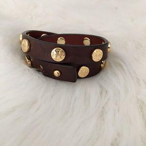 Tory Burch leather wrap bracelet
